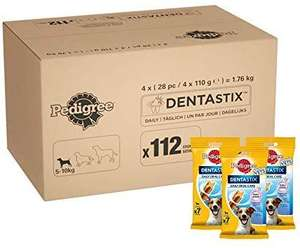Pedigree DentaStix Daily Dental Chews for Small Dogs 5-10 kg, 28 Sticks, 4 x 110g (Pack of 4) £12.79 / £17.28 nP/ £9.59 s&s Amazon