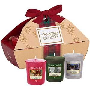 Yankee Candle Gift Set with 3 Scented Votive Candles, Alpine Christmas Collection, Festive Gift Box £4.99 (Prime) / £9.48 (nonPrime) Amazon