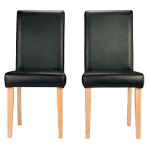 2x Dining chairs Black Leather effect, for £36.70 (£33.75 + £2.95 postage) from Asda George