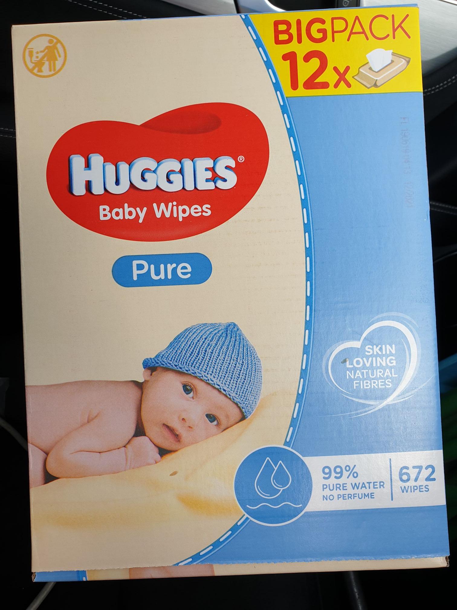 Huggies pure wipes 12 x 56 = 672 wipes @ Morrisons