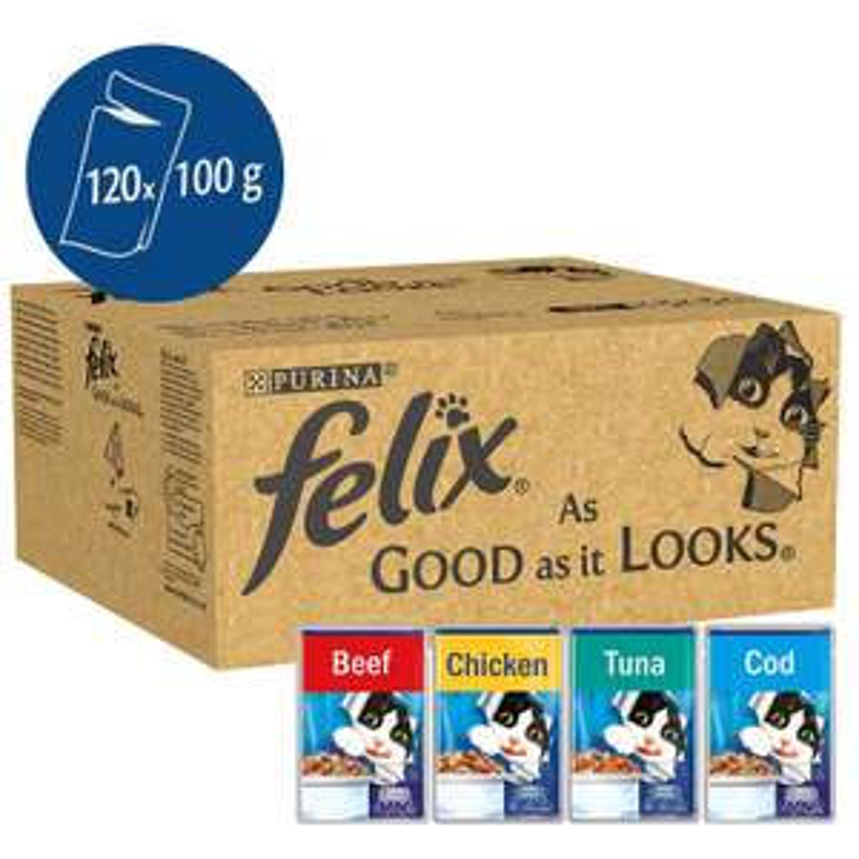 Felix - As good as it looks (Jelly) 120 pouches £27 @ Amazon