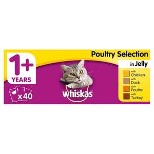 3x 40 Pack Whiskas or Felix  £22 @ Heron Foods
