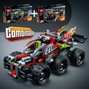 LEGO Technic BASH Racing Car Toy with Powerful Pull-Back Motor, High-Speed Action Vehicles Building Set £12 @ Amazon (£16.49 Non Prime)