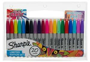 20 Sharpie fine tip markers including limited edition Colour Burst and Electro Pop sets - £7.99 @ WH Smith