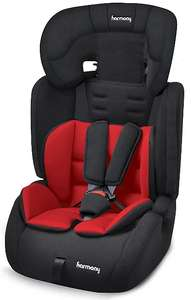 Harmony Venture Deluxe Harnessed Car Seat with Red Black Reversible Insert Group 1/2/3 for £25 @ George (free click & collect)