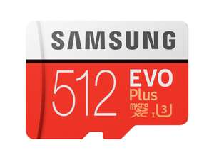Samsung memory 512GB EVO Plus Micro SD card with Adapter for £76.99 With Code Delivered @ SamsungAccessoriesUK/Ebay