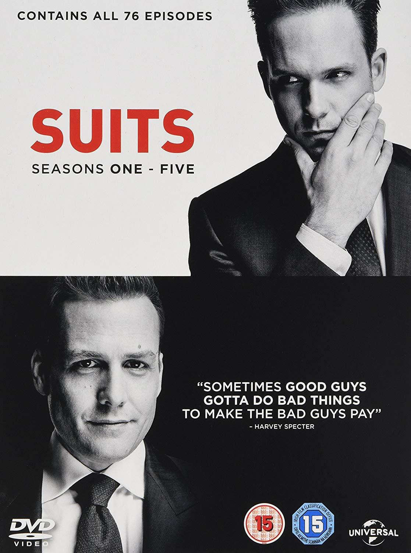 Suits Seasons 1-5 DVD Box Set £10.99 + £2.99 delivery Non Prime @ Amazon