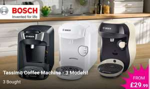SUNY and HAPPY refurbished Tassimo coffee machine £36.94 including delivery at Wowcher