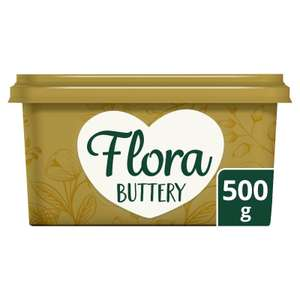Flora Buttery Spread Buttery 500g - 75p Iceland 7 day deal
