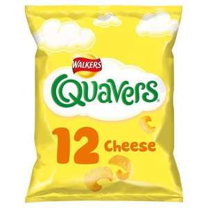 Walkers 12 pack Quavers, Squares, Wotsits, French Fries, Monster Munch 12 pack £1.47 @ Tesco