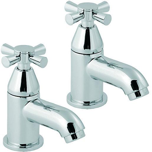 Manila Bath Taps Chrome for £5 @ Wickes (p&p £7.95)