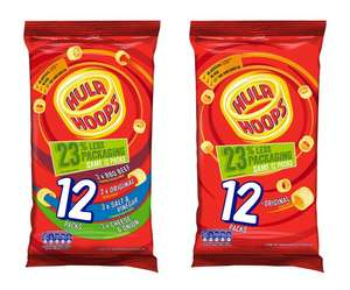 Hula Hoops Variety / Original Pack 12x24g for £1.50 @ Tesco