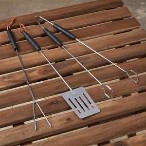 BBQ Tool Set 3 per pack (Tongs / Fish Slice / Fork) only 50p @ Morrisons - also Sweetcorn Holders x8 - 50p