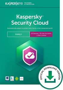 Kaspersky Security Cloud - Family | 20 Devices | 1 Year | PC/Mac/iOS/Android | Online Code £24.99 Amazon