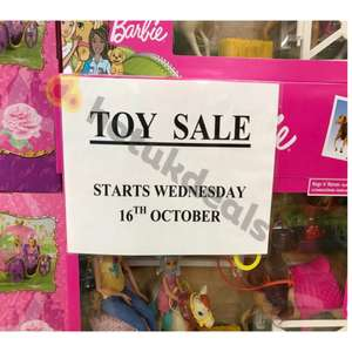 Sainsbury's upto half price toy sale - now live