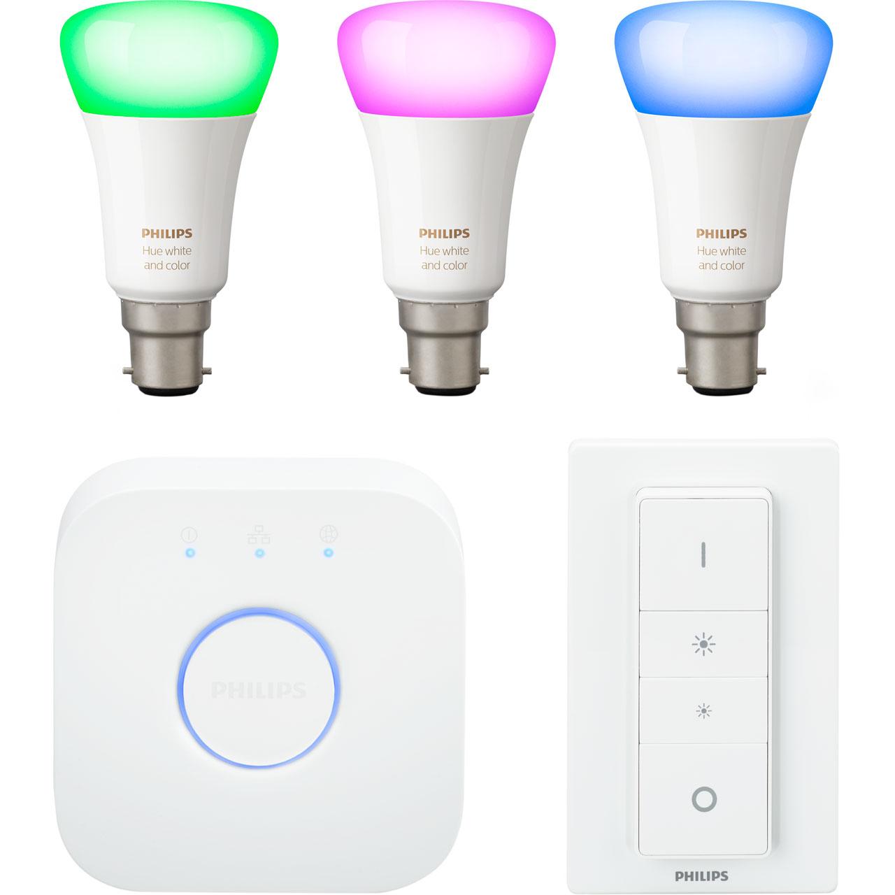 Free Bulb Pack when you Buy Phillips Hue Light Smart light starter kit with voucher Code @ AO.com