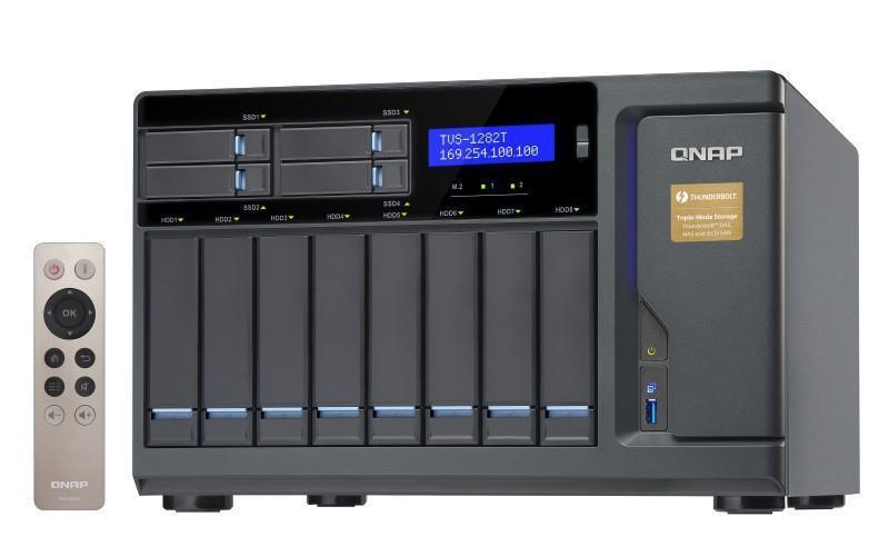 "QNAP TVS-1282T-i5-16G, 8x 3.5"" + 4x 2.5"" drive bay, 16GB RAM, Thunderbolt £1899.99 @ BOX"