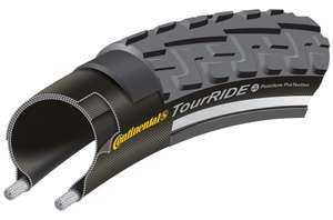 """Continental TourRide Puncture Protection 28"""" Wired Commuting Tyre - £4.99 @ Halfords (free c&c)"""
