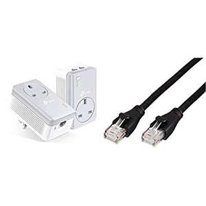 TP-Link  2-Port Passthrough Powerline Starter Kit & Cable  TL-PA4022PKIT £39.48 delivered @ Amazon