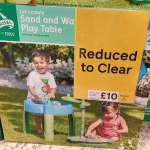 Carousel Sand and water play table £2.50 or £10 instore @ Tesco Extra (Castle Lane)