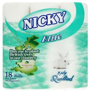 Nicky elite loo roll 18 pack £3.99 @ Home bargains