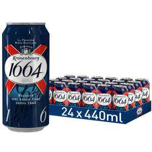Kronenbourg 1664 Lager Beer Cans, 24 x 440 ml @ Amazon £16 Prime £20.49 Non Prime