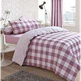 Sleepdown Gingham Pink Check Reversible Stripe Duvet Quilt Cover Bedding Set KIng @ Amazon £8.20 Prime / £12.69 Non Prime