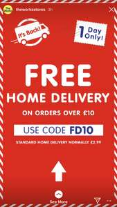 Free delivery on orders over £10 - The Works