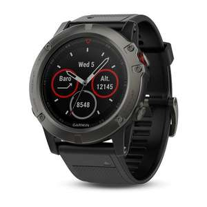 30% off selected products e.g. fēnix® 5X Slate Gray Sapphire watch with Black Band £363.99 @ Garmin