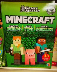 GamesMaster Minecraft Unofficial Builds/Puzzles/Tips/Activities Book, In Store £1 @ Poundland Strathkelvin Retail Park, Bishopbriggs