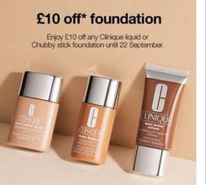£10 off Clinique foundation with email voucher (attached in comments) @ Boots JL & HoF or online code CLI091910 at Boots