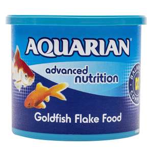 AQUARIAN Complete Nutrition, Aquarium Goldfish Food, Flakes Also Suitable for Small Pond Fish, 200 g £8.99 + £4.49 delivery NP @ Amazon