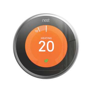 Nest Smart Thermostat & Hot Water Control Silver with free stand - Screwfix £168.99