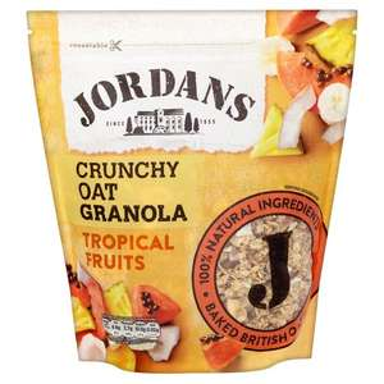 Tesco-Jordans Crunchy Oat Tropical Fruits Granola/Raisin Almond/Simply Granola 750g - £1.50 was £3.00