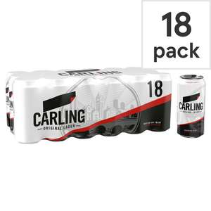Carling Lager 18X440ml - Any 2 for £20.00 at Tesco