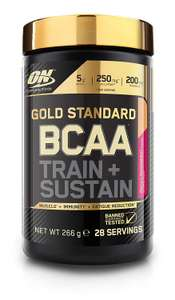 Gold standard BCAA train and sustain powder 266g - 50p instore at Sainsbury's  Colchester Avenue