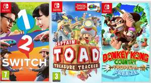 US digital codes for 1-2 switch £17.98 captain toad £17.98 donkey kong tropical freeze - £26.97 & other switch games @ Gamivo