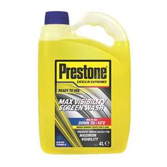 PRESTONE READY TO USE SCREEN WASH 4LTR £2.99 @ Screwfix