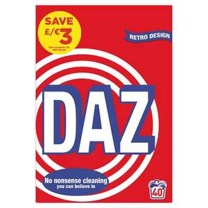 Daz 40 washes £3.50 @ Tesco