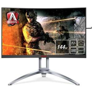 "AOC AGON AG273QCX 27"" QHD FreeSync2 144Hz Curved Gaming Monitor £399 at Overclockers"