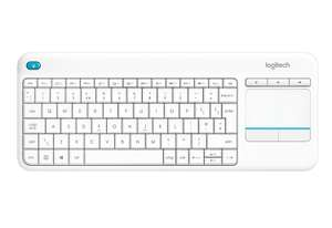 Logitech K400 Plus Wireless Touch Keyboard for Windows, Android and Chrome -  White, £17.99 at Amazon (+£4.49 Non Prime)