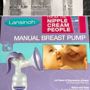 Lansinoh Manual Breast Pump £8.75 at Asda instore