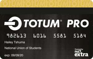 TOTUM Pro (NUS Card) including student verification via ICAEW for all HOTUKDEAL students  ;) £14.99. Rate is normally £19.99.