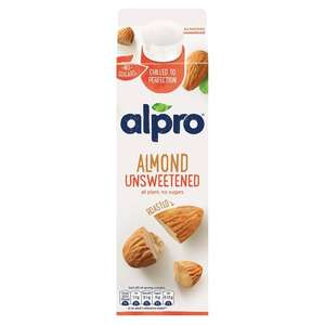 Alpro almond unsweetened fresh milk £1 @ Morrisons (£1.20 cashback @ checkoutsmart)