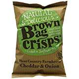 Brown Bag Crisps West Country Cheddar and Onion 40 g Pack of 20 @ Amazon £5.01 Prime £9.50 Non Prime