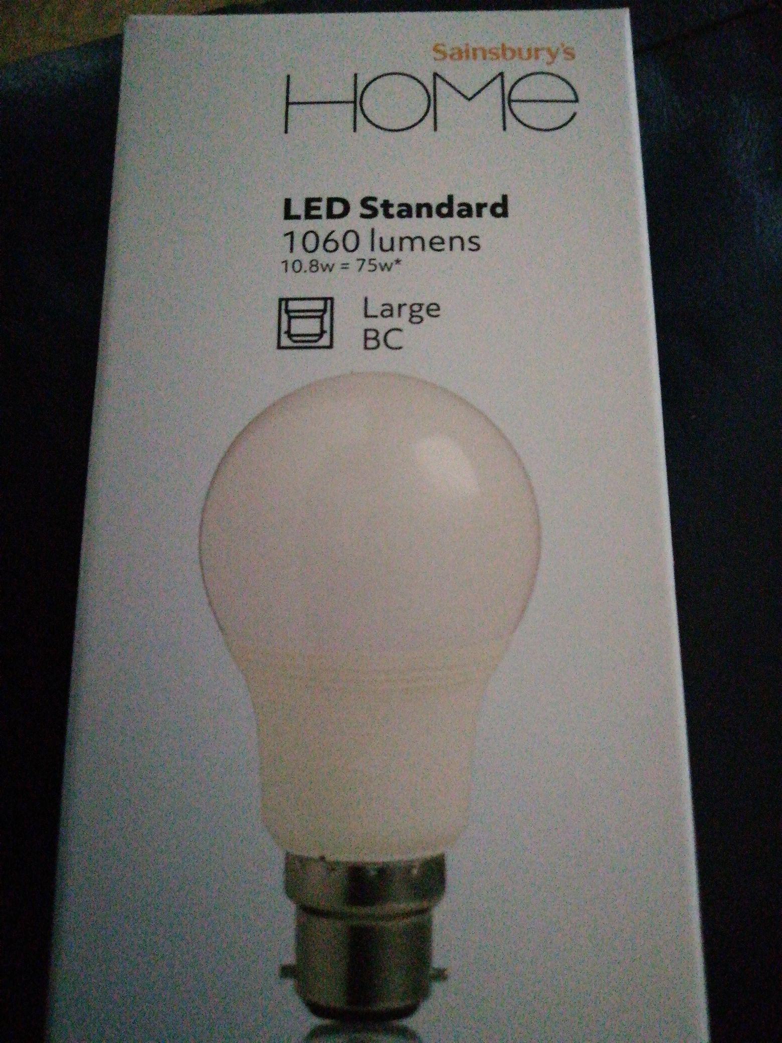 Led Standard light bulb EC instore at Sainsbury's for 75p