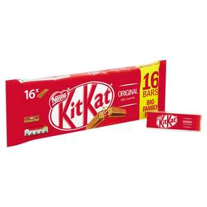 KitKat 2 Finger Milk Chocolate Biscuit Bar, 16 Pack for £2 @ asda online/instore