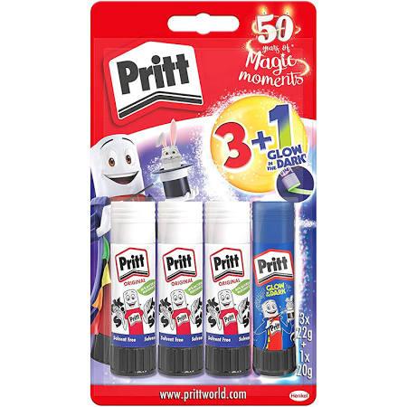 Pritt Glue Sticks 3 pcs + Glow in the Dark - 28p Instore @ Asda (Walsall)