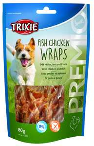 Trixie Premio Fish Chicken Wraps – 80g Pack of 5 x 85 g £2.49 Add on Item - Amazon
