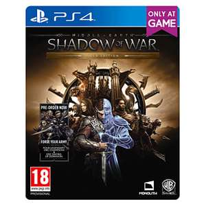 Middle-earth: Shadow of War Gold Edition - Includes Season Pass £19.99 @ Game